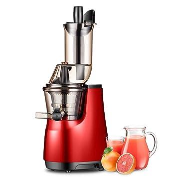 Exprimidor automático para el hogar - Exprimidor de residuos de zumo pequeño multifuncional, exprimidor de frutas y verduras enteras, rojo, Rojo, ...