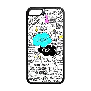 MMZ DIY PHONE CASEPaint The Fault In Our Stars Apple ipod touch 5 Case Cover TPU Anime Comic Cartoon Hard Plastic