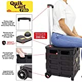 dbest products Quik Cart Pro Wheeled Rolling Crate