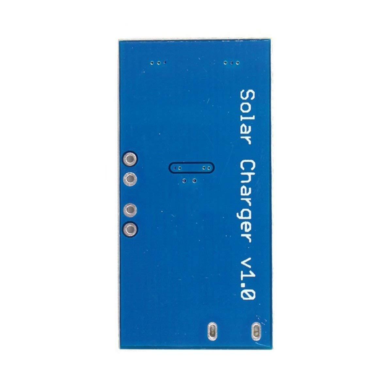 ngzhongtu Nuevo Super Mini Solar Lipo Charger Board CN3065 M/ódulo de Placa de Cargador de bater/ía de Litio 500mA DC4.4-6V Soporte de Carga USB Azul