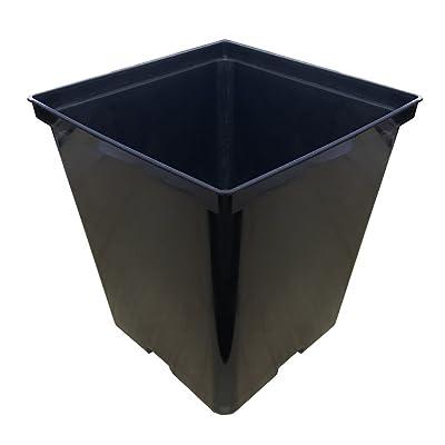 Oppolite 1/2 Gallon 48-Packs Square Black Plastic Nursery Plant Pots/Flower Plastic Pots for Plant Growing (1 Gallon Square, 48-Pack): Garden & Outdoor