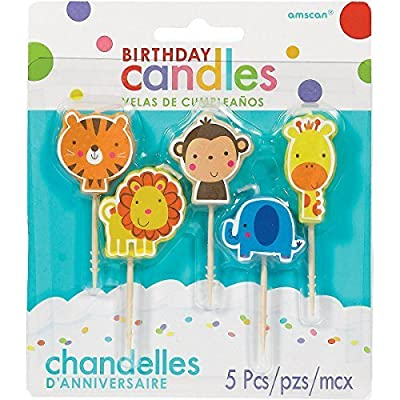 Jungle Animal Pick Birthday Candles | Party Supply: Kitchen & Dining [5Bkhe0705262]