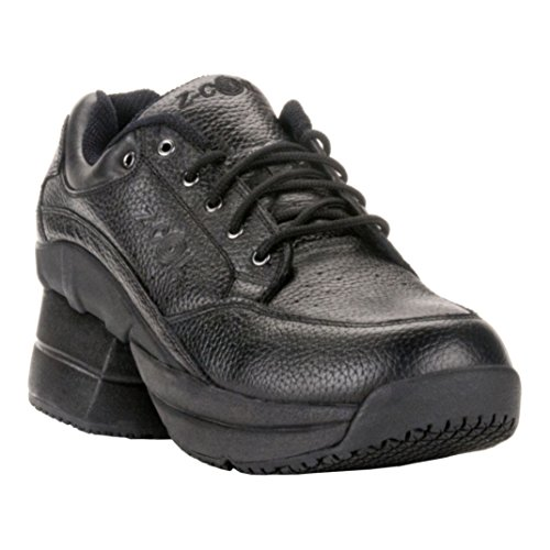 Z-CoiL-Pain-Relief-Footwear-Mens-Legend-Slip-Resistant-Enclosed-CoiL-Black-Leather-Tennis-Shoe