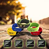Mosquito Repellent Bracelets, 5 PCS Colorful Patches, Reusable 10PCS Natural Oil Chip, Bug Insect Waterproof Wrist Brand, 300 Hours-Up No Pest Control Bug Protection for Kids Adults Outdoor Sports