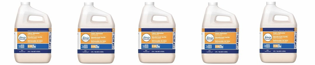 Febreze Professional Fabric Refresher Deep Penetrating, Fresh Clean Scent, 1 Gallon (Case of 3) (5-(Pack))