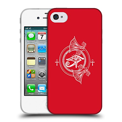 GoGoMobile Coque de Protection TPU Silicone Case pour // Q09840624 Religion 24 Cadmium Rouge // Apple iPhone 4 4S 4G