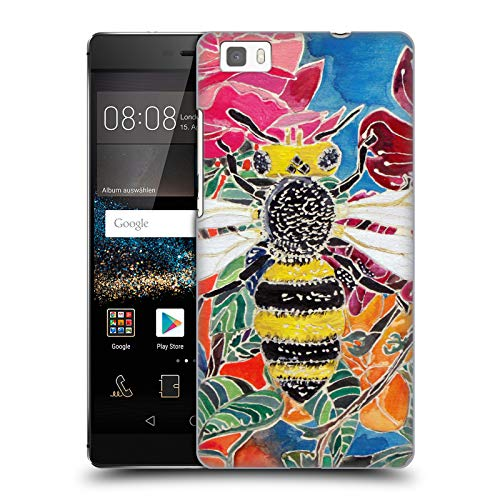 Official Lauren Moss Oh Honey Bee Flowers Hard Back Case for Huawei P8lite / ALE-L21