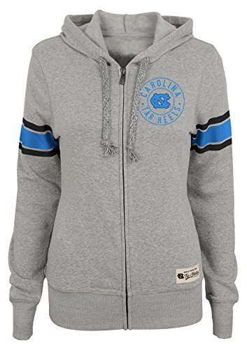 Outerstuff NCAA North Carolina Tar Heels Junior Girls Boyfriend Full Zip Hoodie, Heather Grey, Large(11-13)