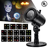 Christmas Party LED Projector Light- Tunnkit 14 Switchable Slides/Patterns Decorative Light for Halloween Thanksgiving Holiday,4 Speed Modes, IP65 Waterproof, Timing Function,Thermal Module
