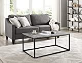 """WE Furniture 42"""" Mixed Material Coffee Table - Concrete"""