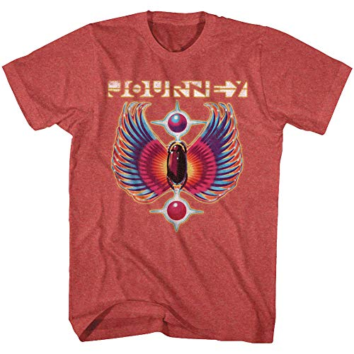 - Journey Rock Band Music Group Colored Wings Logo Adult T-Shirt Tee