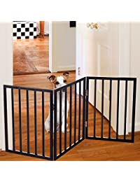 PETMAKER Freestanding Wooden Pet Gate - Rich Espresso BOBEBE Online Baby Store From New York to Miami and Los Angeles