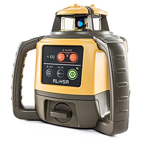 Topcon RL-H5A Self Leveling Horizontal Rotary Laser with Bonus EDEN Field Book| IP66 Rating Drop, Dust, Water Resistant| 800m Construction Laser| Includes LS-80L Receiver, Detector Holder, Hard Case by TOPCON (Image #2)