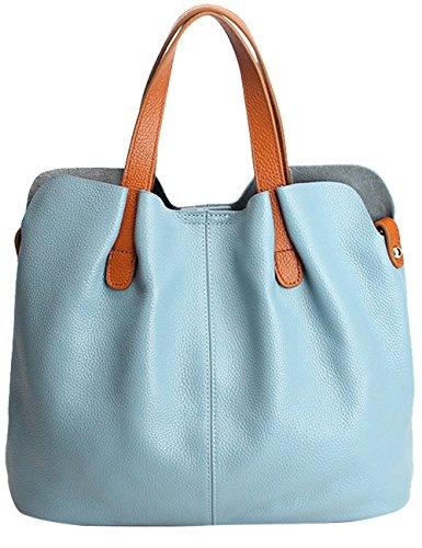 en véritable 2pcs bandoulière Sac Menschwear à Bleu cuir main avec FTPxX