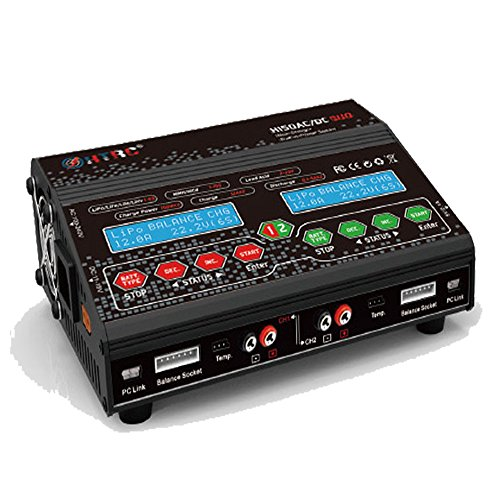 HTRC H150 DUO Twin-Channel Multi-Charger 150W x2 12A x2 Dual output RC Balance Charger Discharger (Balance Lithium Charger)
