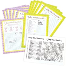 Amscan Baby Shower Word Scramble and Baby Word Search Games