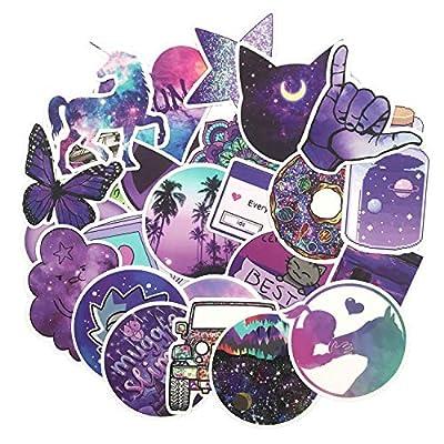 KONLOY Decal Stickers,Meet Holiday Stranger Things Movie Stickers Laptop Sticker Waterproof Vinyl Stickers for Teens Girls Water Bottles Hydroflasks Skateboard Luggage (Purple Vsco Stickers): Toys & Games