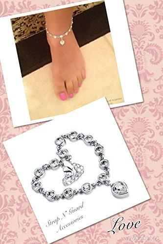 Heart Anklet Bracelet Cz Crystal