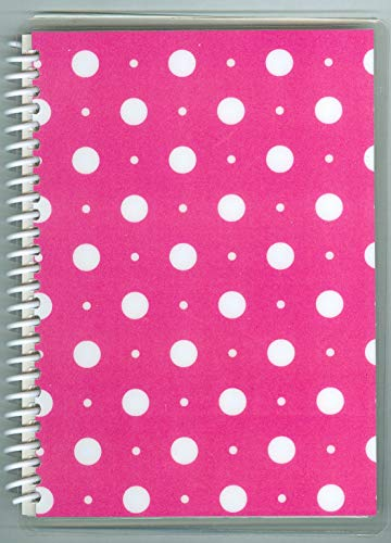 Sticker Collecting Album, 5 x 7 Hot Pink with White Dots, Re-usable Pages,!
