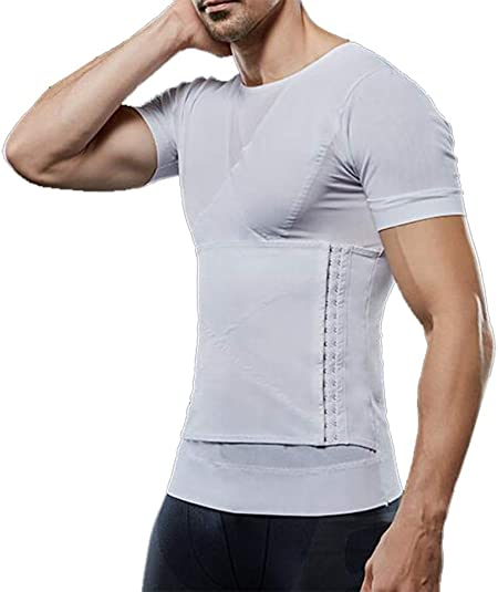 Q&M Camisa de compresión para Hombres, para Ocultar ginecomastia Moobs, Pecho, Ejercicio de Gimnasio Transpirable,M: Amazon.es: Hogar