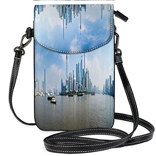 (Custom Trendy Shoulder Crossbody Bag Panorama of Pudong District Shanghai China Lightweight, Water Resistant Travel Purse for Women)