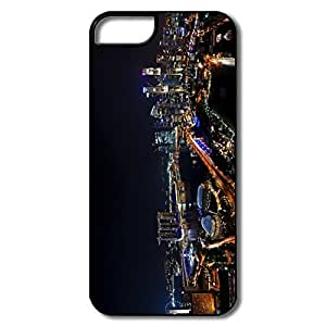 Funny Singapore Night Panorama Plastic Cover For IPhone 5/5s
