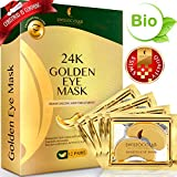 under Under Eye Mask Gold Eye Mask Anti-Aging Hyaluronic Acid 24k Gold Eye Patches Under Eye Pads for Moisturizing & Reducing Dark Circles Puffiness Wrinkles