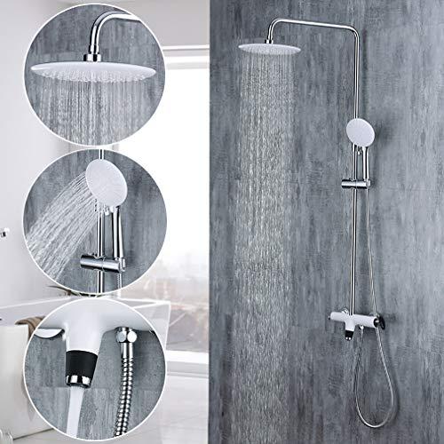duschsystem 3 funktion thermostat duscharmatur regendusche duschset mit rainshow ebay. Black Bedroom Furniture Sets. Home Design Ideas