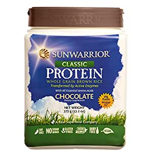 Sunwarrior - Classic Protein, Raw Wholegrain Brown Rice, Chocolate, 17 Servings