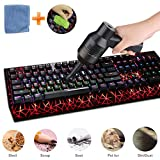 Keyboard Cleaner, USB Vacuum Cleaner with Cleaning Gel Cloth, Powerful Rechargeable Mini Vacuum Cleaner Portable Vacuum Cleaner for Keyboard, Hairs, Crumbs, Scrap, Car, Pet House (Built in Li-Battery)