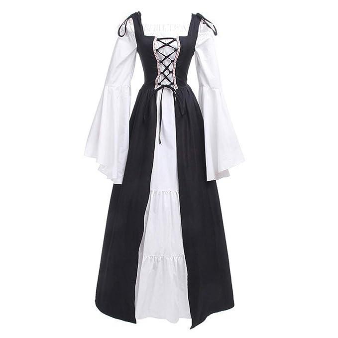 EISHOW Womens Plus Size Medieval Dress Renaissance Cold ...