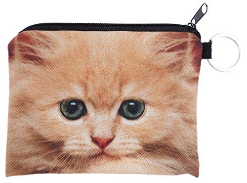 Kukubird gingembre Cat Design Print Square portefeuilles