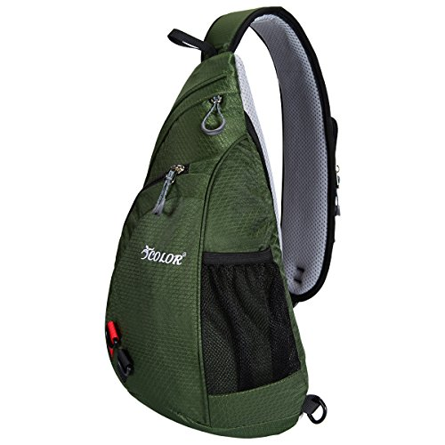 Sling Bag Army Green Lightweight Backpacks Camping Hiking Icolor Unisex Daypack Chest qtnzv5