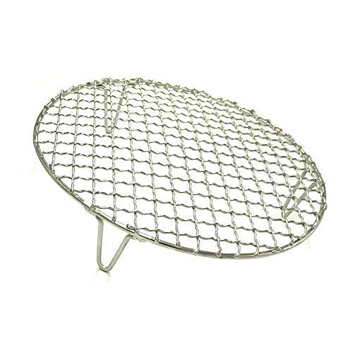 Turbokey Round Grill Barbecue Net, Cross-wire Cooling Rack 2'' Height Durable Stainless Steel Multi-Purpose Baking Barbecue Rack/Food Steamer/Cooking/Baking/Steaming Rack Dia 13'' (330mm/13'') by Turbokey (Image #8)