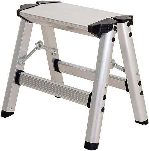 Yang baby Escalera Plegable de Dos Pasos para el hogar Escalera de Aluminio Escalera con escalones Taburete con sillas Taburete con sillas de Doble Uso Taburete con escalones: Amazon.es: Hogar