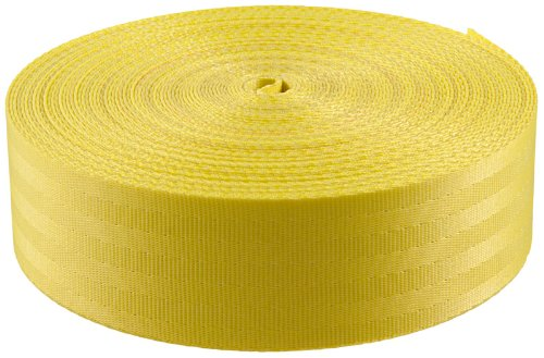 2 Inch Yellow Polyester Webbing Closeout, 50 Yards by Unknown (Image #1)