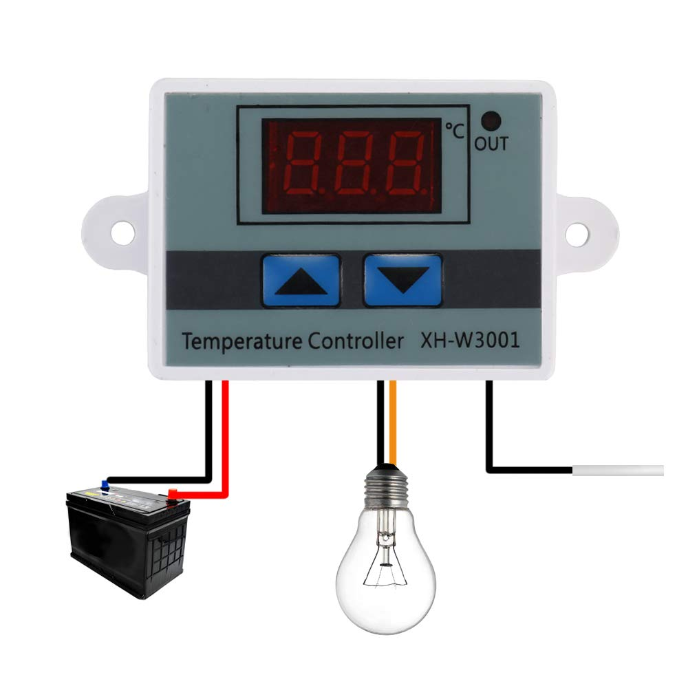 Montloxs XH-W3001 Digital Display LCD Temperature Controller Microcomputer Thermal Regulator Termopar Termostato