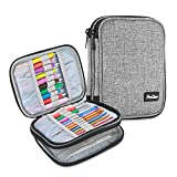 ProCase Crochet Hook Case (up to 6.5 Inches), Travel Organizer Zipper Bag for Various Crochet Hooks, Circular Knitting Needles and Other Accessories, Black (NO Accessories Included): more info
