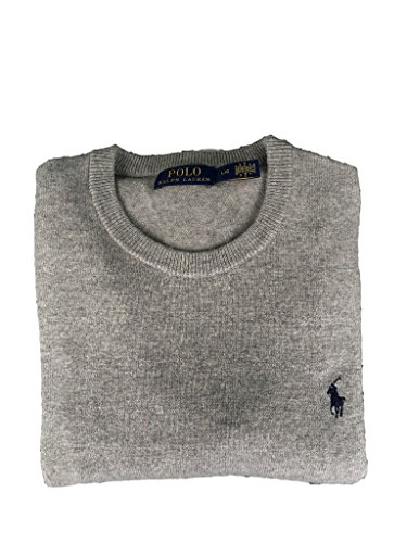 (Polo Ralph Lauren Italian Yarn Wool Crewneck Sweater-XL-FAWNGR)