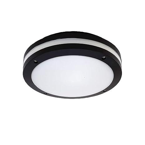 online store f59ce 3d7ce VinDeng Black LED Ceiling Light Flush Mount for Bathroom ...