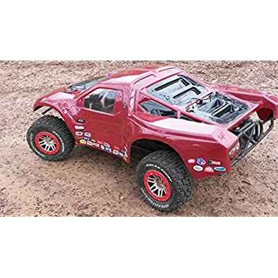 RC R/C car truck - Racing Sponsor decals stickers -290pc set - For 1/8 1/10 Scale - rock crawler No prep drag Traxxas Slash Arrma DR10 SMT10 Capra SCX10 UDR Losi SBR Xmaxx Infraction: Automotive