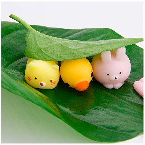 WATINC Random 30 Pcs Cute Animal Mochi Squishy, Kawaii Mini Soft Squeeze Toy,Fidget Hand Toy for Kids Gift,Stress Relief,Decoration, 30 Pack by WATINC (Image #2)