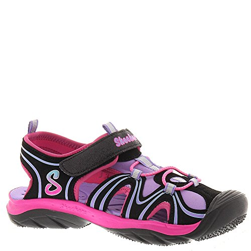 Skechers Girls' Cape Cod Water Wonders,Black/Multi,US 12 M