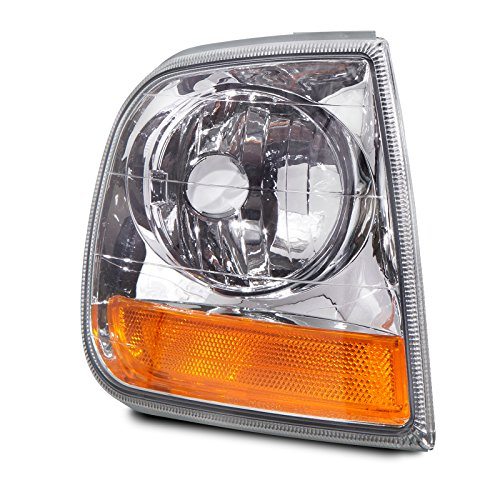 Ford F250 Cornering Light (Headlights Depot Replacement for Ford F150 F250/Expedition Lightning Model Signal Light Passenger Side New)