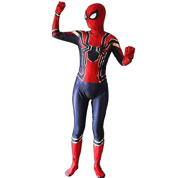 Baipin Cosplay Spider-Man de Vengadores, Traje de Mono Rojo Azul ...