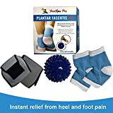 FootSpa Pro 5 Piece Plantar Fasciitis Kit, Gel Plantar Fasciitis Sleeve, Foot Arch Support, Massage Ball, Relieves Plantar Fasciitis, Heel Spurs, Metatarsal Pain, Aching feet and Much More