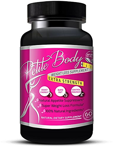Natural Appetite Suppressant / Fat Burner For Weight Loss That Works (For Women), Energy Booster – NO JITTERS, Natural Diet Pills (60 Capsules) – Petite Body Weight Loss Formula
