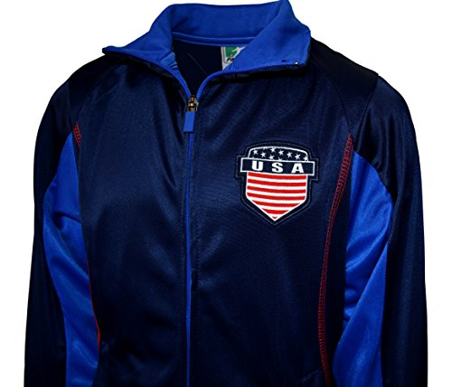Usa Jacket lightweight Track Soccer Youth Sizes Flag USA Soccer Football United States (YS, - States Ys