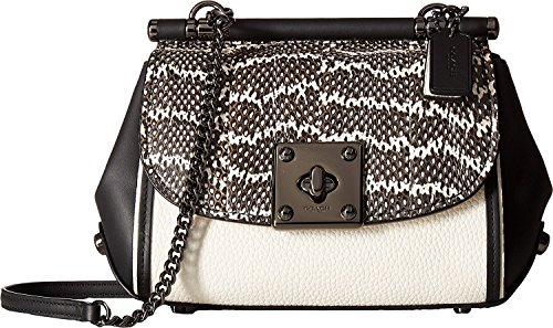 COACH Womens Drifter Snake Crossbody Dk Black Chalk Genuine rrqdxOUwZ