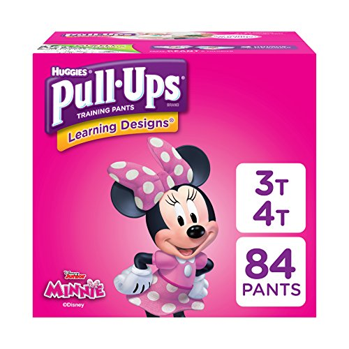 Pull-Ups Learning Designs for Girls Potty Training Pants, 3T-4T (32-40 lbs.), 84 Ct. (Packaging May Vary)